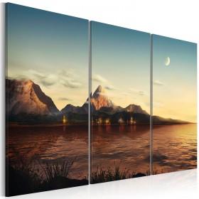 Foto schilderij - Warme avond in de bergen