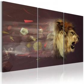 Foto schilderij - leeuw (abstractie)