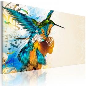 Foto schilderij - Bird's music