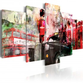 Foto schilderij - Memories from London - 5 pieces