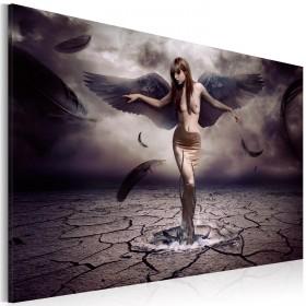 Foto schilderij - Black angel