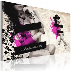 Foto schilderij - La dame Mariée