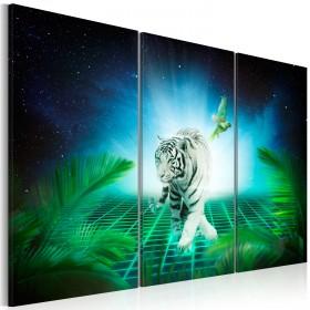 Foto schilderij - Ice tiger