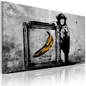 Foto schilderij - Inspired by Banksy - black and white