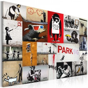 Foto schilderij - Banksy - collage