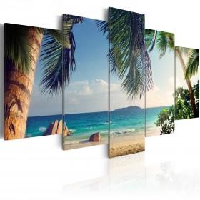 Foto schilderij - Under palm trees