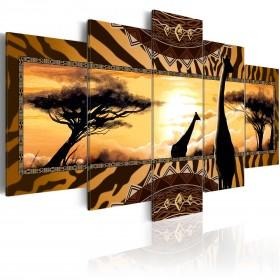 Foto schilderij - African giraffes