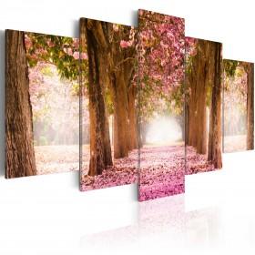 Foto schilderij - Pink alley
