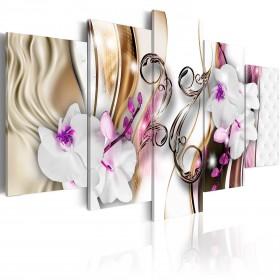 Foto schilderij - Orchids: pink flowers