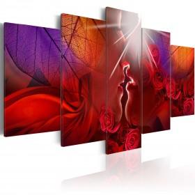 Foto schilderij - Kiss from rose