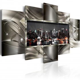 Foto schilderij - Night in New York II