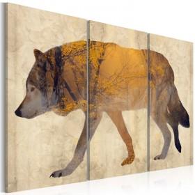 Foto schilderij - The Wandering Wolf