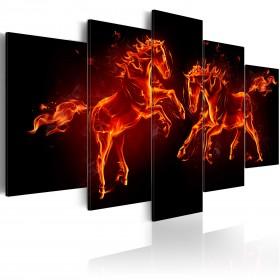 Foto schilderij - Fiery Horses
