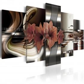 Foto schilderij - Abstraction and Amaryllis