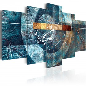Foto schilderij - Blue Galaxy