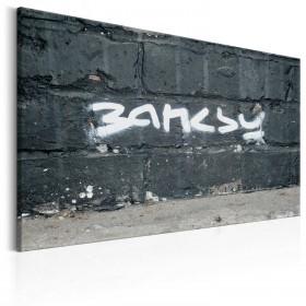 Foto schilderij - Banksy Signature