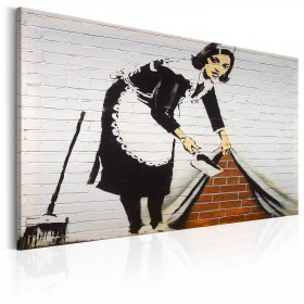 Foto schilderij - Maid in London by Banksy