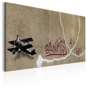 Foto schilderij - Love Plane by Banksy