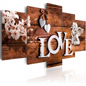 Foto schilderij - House of Love
