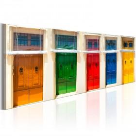 Foto schilderij - Colourful Doors