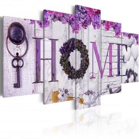 Foto schilderij - Purple House