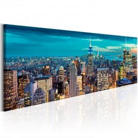 Foto schilderij - Blue Metropolis