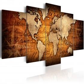 Foto schilderij - Amber Map