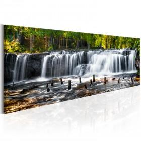 Foto schilderij - Fairytale Waterfall