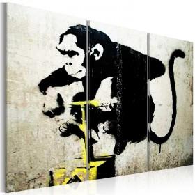 Foto schilderij - Monkey TNT Detonator by Banksy