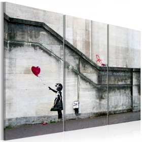 Foto schilderij - Girl With a Balloon by Banksy