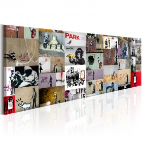 Foto schilderij - Art of Collage: Banksy II