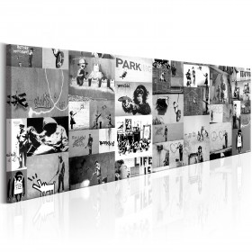 Foto schilderij - Banksy: Graffiti Collage II
