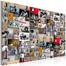 Foto schilderij - Art of Collage: Banksy III