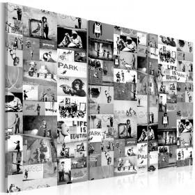 Foto schilderij - Banksy: Graffiti Collage III