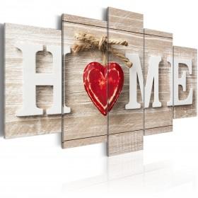 Foto schilderij - Home: House of Love