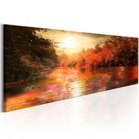 Foto schilderij - Autumnal River