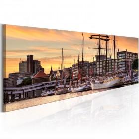 Foto schilderij - Port in Hamburg