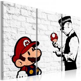 Foto schilderij - Mario Bros (Banksy)