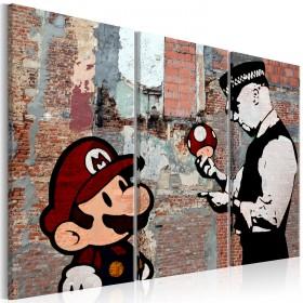 Foto schilderij - Banksy: Warning