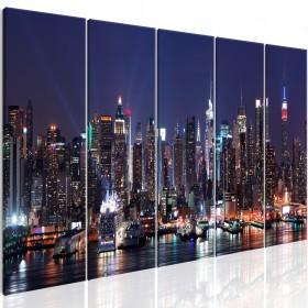 Foto schilderij - New York: Live by Night
