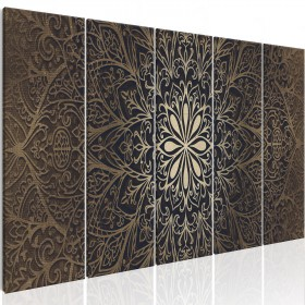Foto schilderij - Brown Mandala