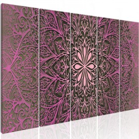 Foto schilderij - Pink Mandala