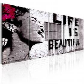 Foto schilderij - Banksy: Life is Beautiful
