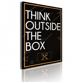 Foto schilderij - Think outside the box