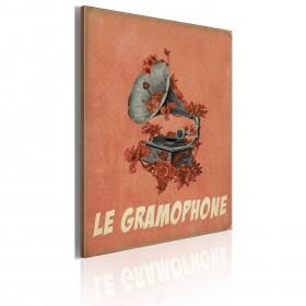 Foto schilderij - Le gramophone