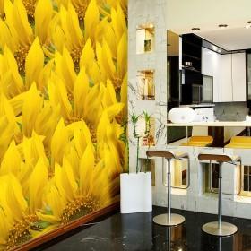 Fotobehang - sunflowers - background