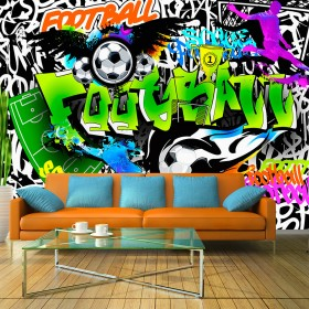 Fotobehang - Football Graffiti
