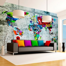 Fotobehang - Map - Graffiti