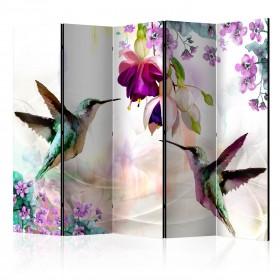 Kamerscherm - Hummingbirds and Flowers II