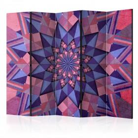 Kamerscherm - Star Mandala (Pink-Violet) II